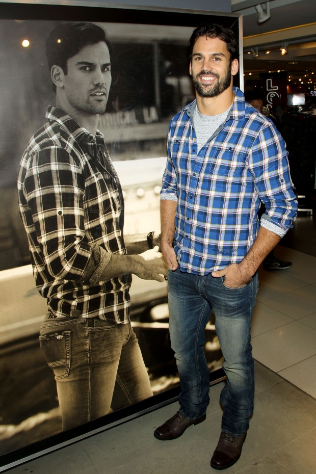 Eric Decker Launches Buffalo David Bitton Collection with wife Jessie James Decker at Macy's Herald Square
