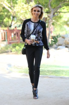 Giuliana Rancic Arriving For Work at E! News
