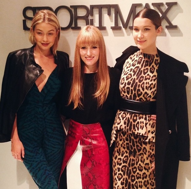 Gigi Hadid, Editor- In- Chief Amy Tastley, Bella Hadid