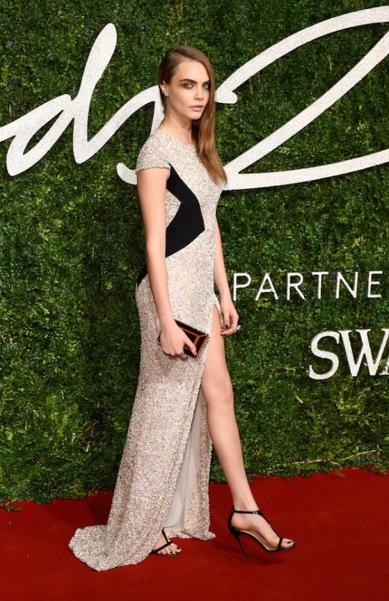 Stars strut their stuff at the British Fashion Awards **USA ONLY**