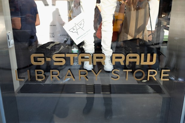 NEW YORK, NY - JUNE 01:  A view of signage as G-Star RAW and Pharrell Williams open its flagship store on Fifth Avenue on June 1, 2016 in New York City.  (Photo by Nicholas Hunt/Getty Images for G-Star)